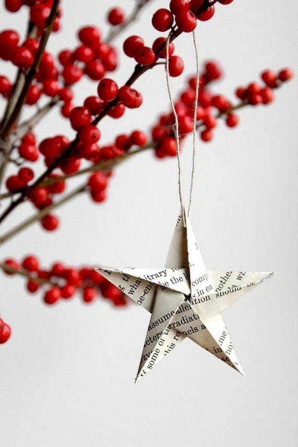 70 Weihnachtssterne basteln - tolle und fröhliche DIY Dekoartikel