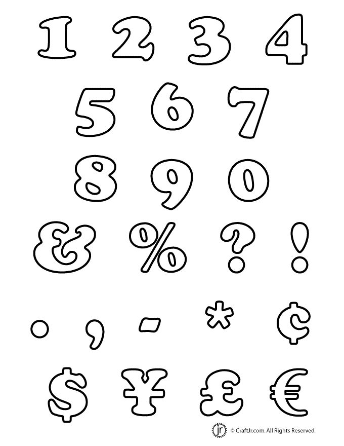 Here's a new set of bubble numbers and punctuation characters to compliment our bubble letter alphabets.