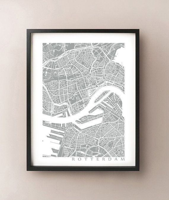 Rotterdam Map Art Poster Print  customize your by CartoCreative