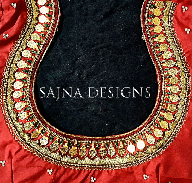 #mahalakshmicoinblouse #mahalakshmipendantblouse #coinblouse #redandgreencombination #weddingseason #weddingblouse #muhurthamblouse #sajnadesigns #sajnabridalweardesigner #handembroideredblouse