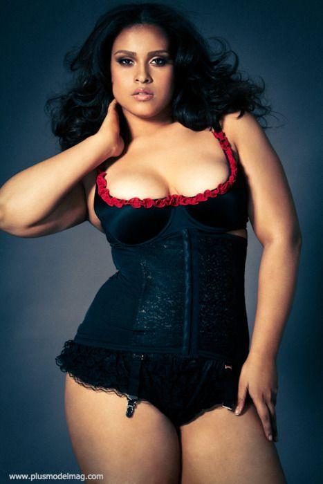 Curvy women in corsets understood not