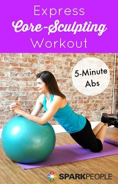 Express Core Sculpting 5 Minute Abs Workout