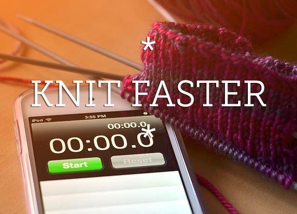 Tips for Faster Knitting #knitting #tips