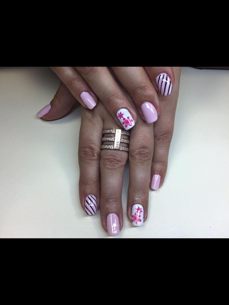 Stamp shellac nails