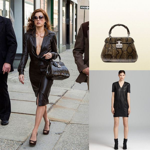 american hustle leather dress