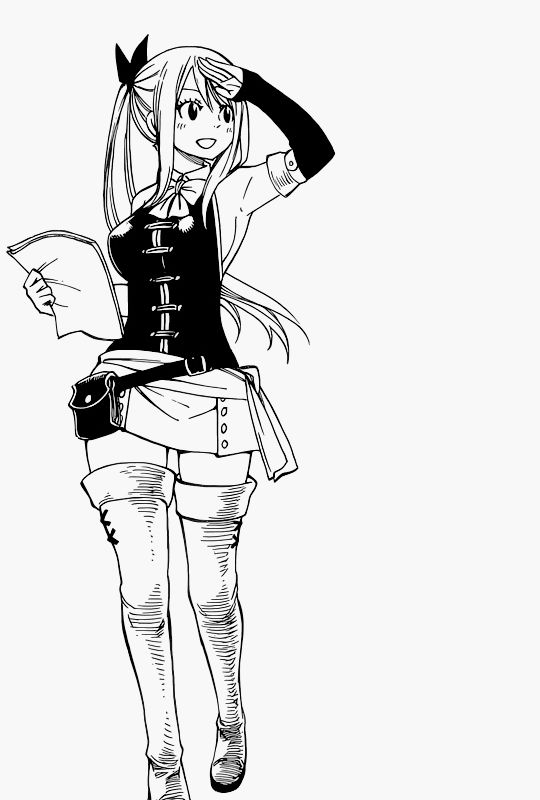 Lucy's new outfit...matching Natsu since the Oracion 6 Arc. NaLu.