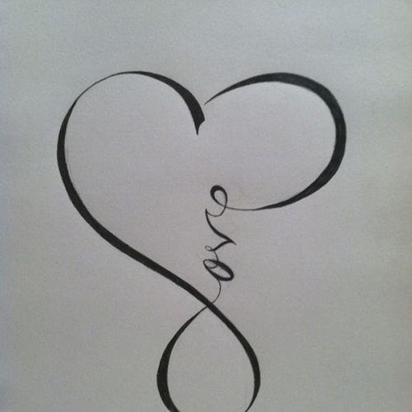 live life hope tattoo | 27 Love Infinity Symbol Tattoos Picture