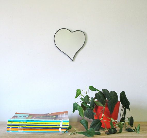 Heart Mirror No. 2 / Handmade Wall Mirror i'd like a custom sized on for the bathroom in office