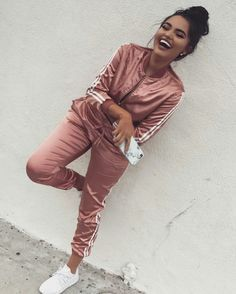 Benita The Diva Silk tracksuit, this texture is pretty trendy right now too.