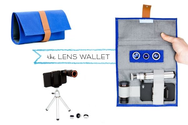 The iPhone Lens Wallet - Keep your iPhone lenses at the ready with this custom case that fits our Telephoto and Magnetic Lenses! ($15.00, http://photojojo.com/store): Fit, Wallets, Gift, Magnetic Lenses, Camera, Lens Wallet, Iphone Lens, Iphone Goodies
