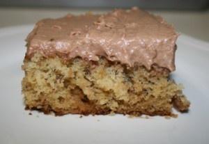 Icebox Banana Cake with Chocolate Cream - Cupcakes & Crinoline