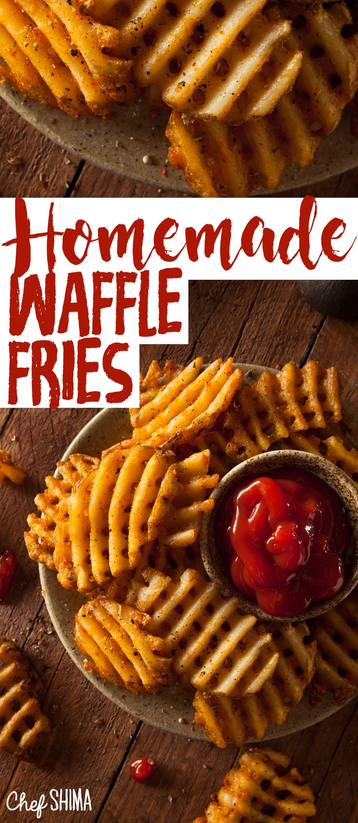 Homemade Waffle Fries | AWESOME recipe. Tastes amazing... and doesn't take a long time!