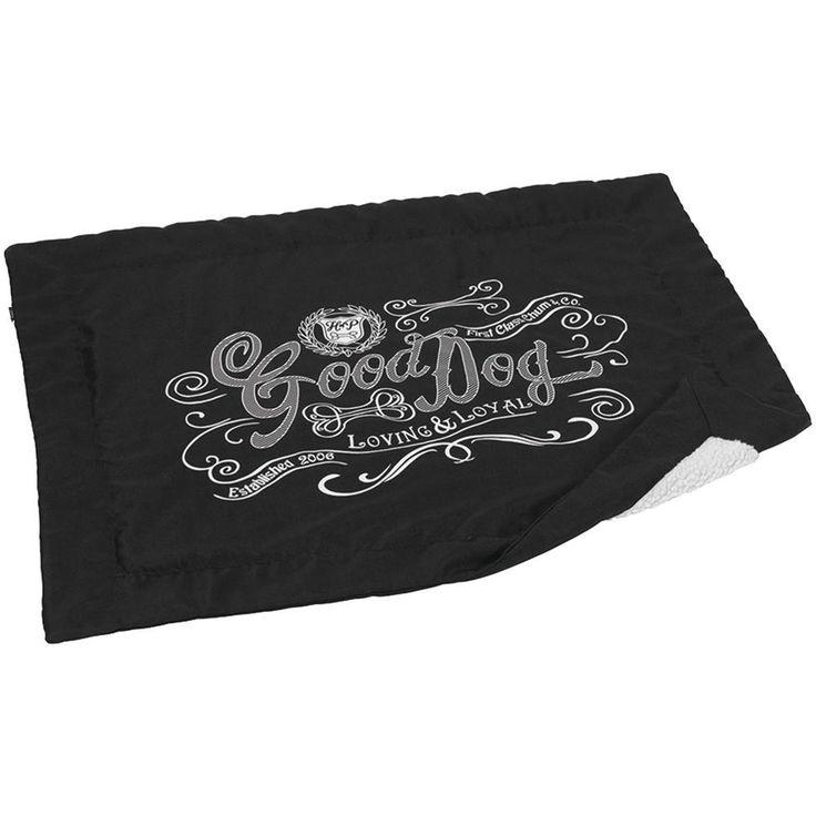 House Of Paws Good Dog Linen Blanket (black)
