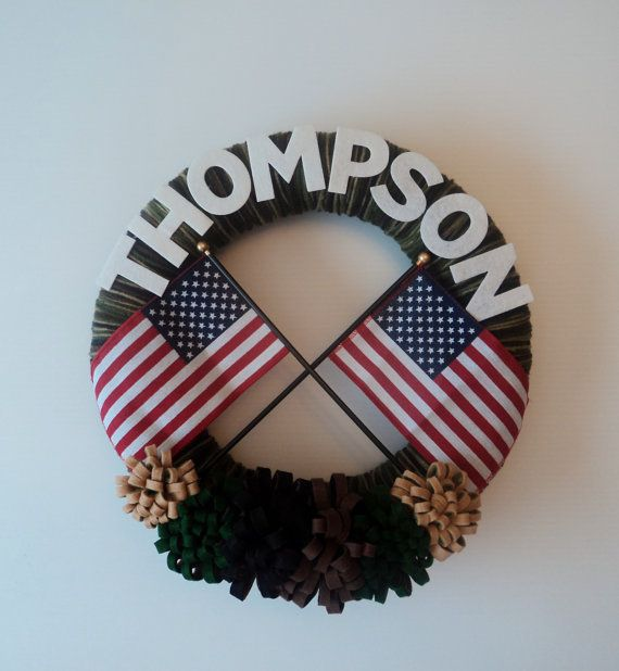 Personalized U.S. Army Yarn Wreath with by 3SunshineKisses on Etsy, $30.00