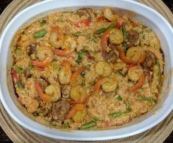 Cajun Dirty Rice (with Chorizo and Shrimp)