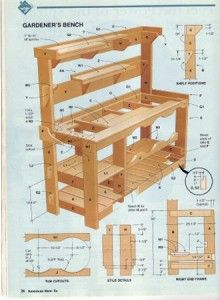 **DIY** How to Build a Garden Potting Bench - living Green And Frugally                                                                                                                                                                                 More