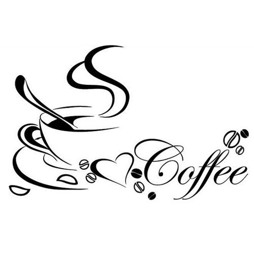 Super sell coffee cup, PVC quote removable wall Stickers, DIY wall art