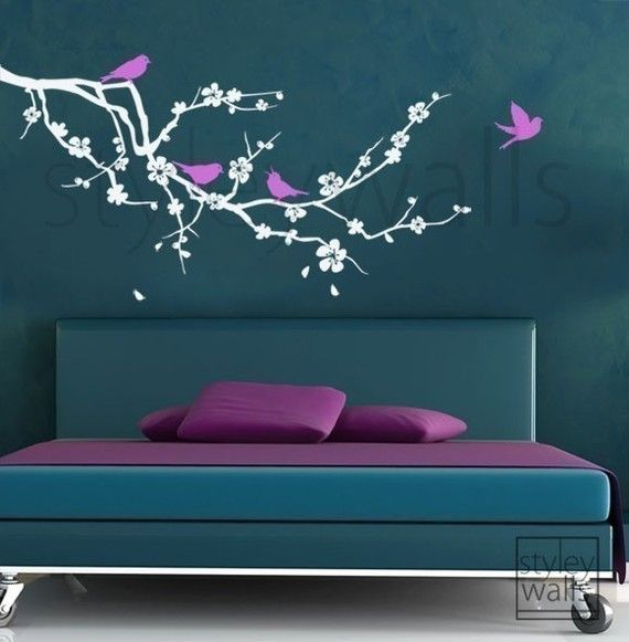 Cherry Blossom with Birds - GIFT BIRDS - Vinyl Wall Decal by StyleyWalls