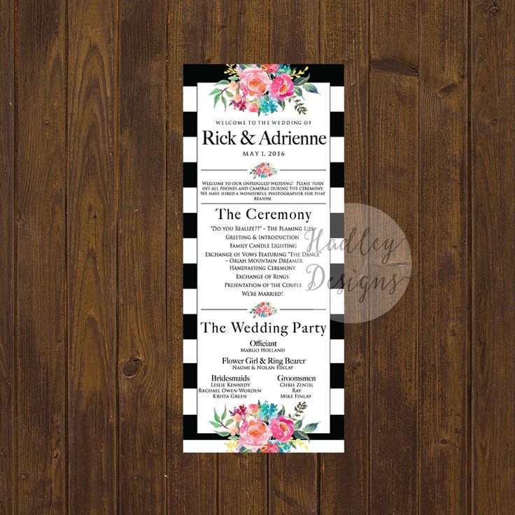 Best 25+ Wedding program examples ideas on Pinterest Examples of - wedding agenda sample