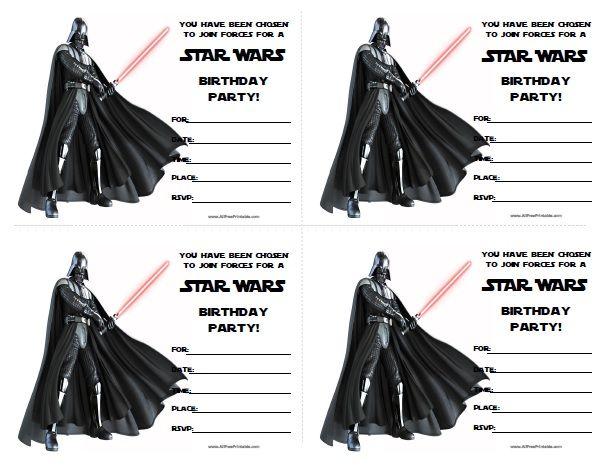 Free Printable Star Wars Birthday Invitations                                                                                                                                                                                 More
