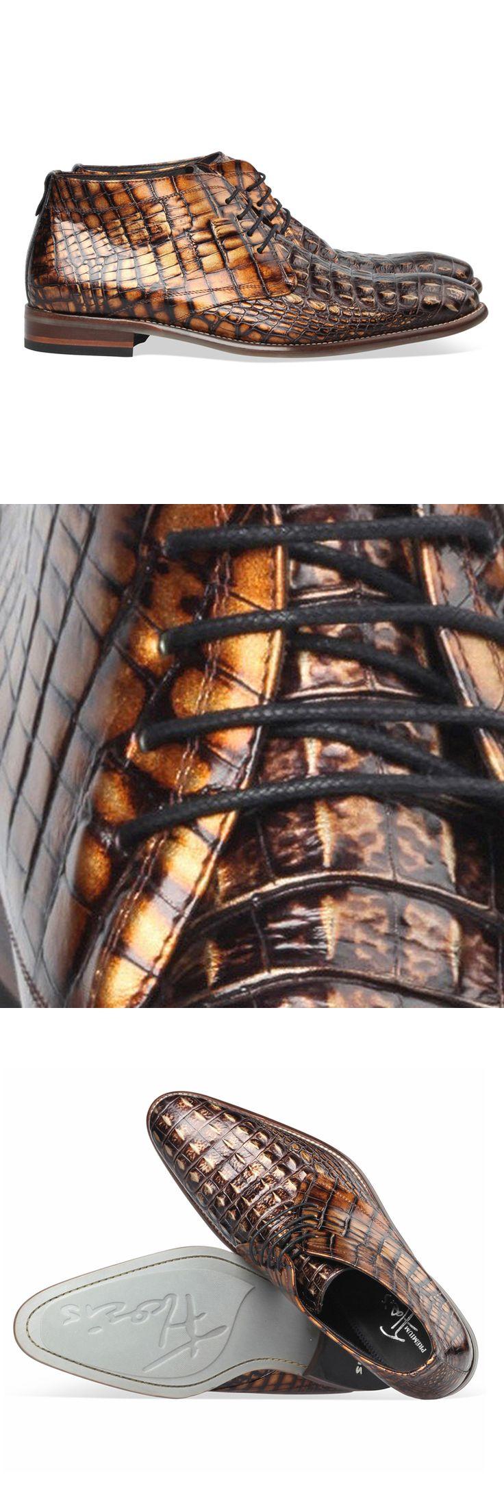 Floris van Bommel schoenen 10486 15 cognac croco