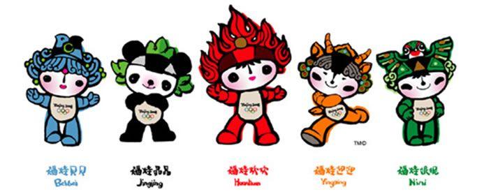 Beijing 2008 Olympic Symbols, Fuwa, Olympic Mascots
