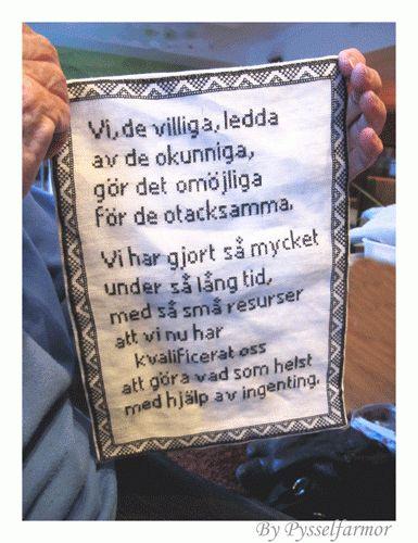 en text som finns i den nedlagda gruvan i Grängesberg.