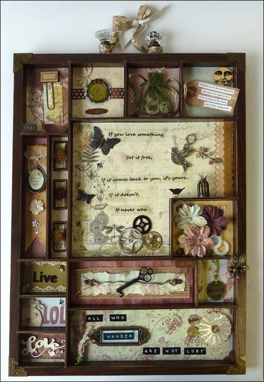 Love thisMemories Boxes, Decor Ideas, Art Boxes, Cool Ideas, Shadows Boxes, Frames Ideas, Configuration Boxes, Sewing Shadowbox, Window Boxes
