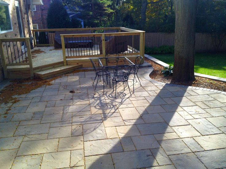 This Wood Deck And Belgard Paver Patio Were Custom Designed And Built In  Lake Forest,