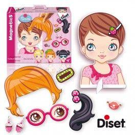 lavagna magnetica con il volto di una bambina