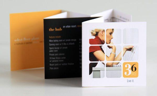 15 Awesome Mini Brochure Designs   Bashooka   Web & Graphic Design
