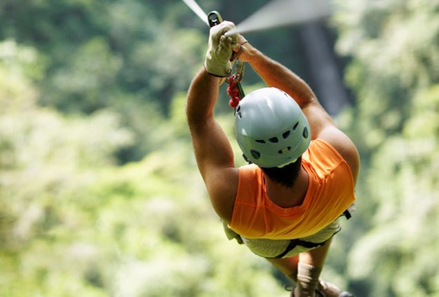 zip lining through the trees of costa rica
