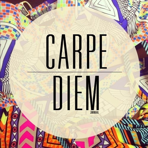 seize the day and actually get stuff done for once. and get some sleep.