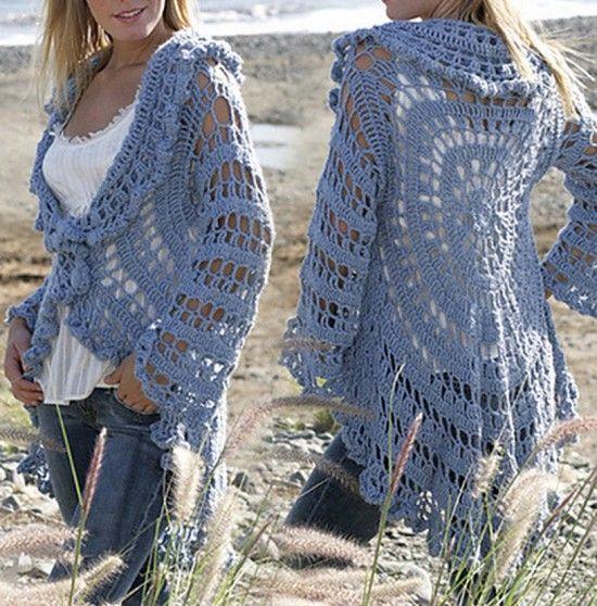 Crochet Jacket gratuito Padrão Garn Estúdio