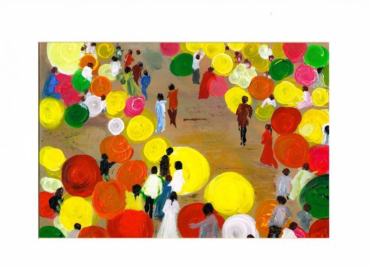 Flower Market  Bangalor  Acrylic