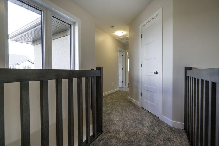 Upstairs hallway with big windows!