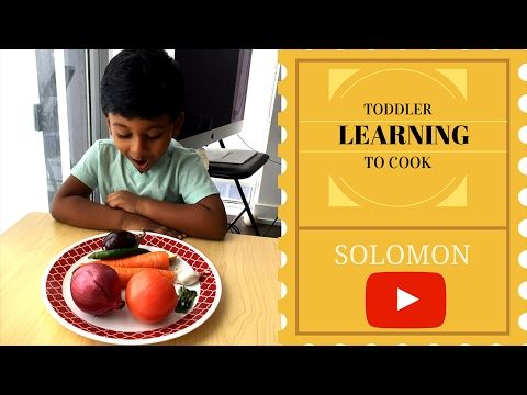 Toddler learning to cook - South Indian curry - One pot Recipe