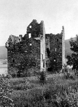 Old photograph of Forter Castle, Glenisla, Angus, Scotland.