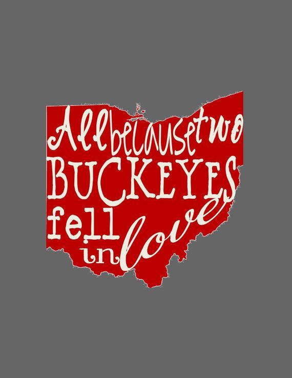 Ohio State Wedding Art Print Buckeye Wedding by AnArtsyAffair