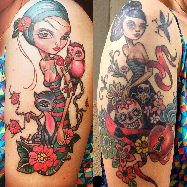 Caia Koopman Tattoo by Kim Saigh at Memoir Tattoo