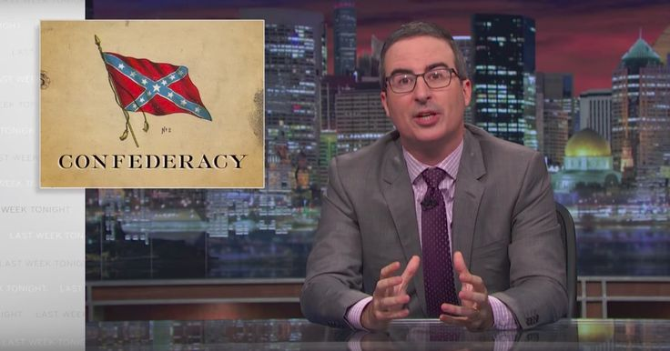See John Oliver's Takedown of Confederate Statues on 'Last Week Tonight'  ||  John Oliver delivered an epic takedown of Confederate monuments on Sunday's 'Last Week Tonight,' which featured a guest appearance by Stephen Colbert. http://www.rollingstone.com/tv/news/watch-john-olivers-takedown-of-confederate-statues-w507810?utm_campaign=crowdfire&utm_content=crowdfire&utm_medium=social&utm_source=pinterest
