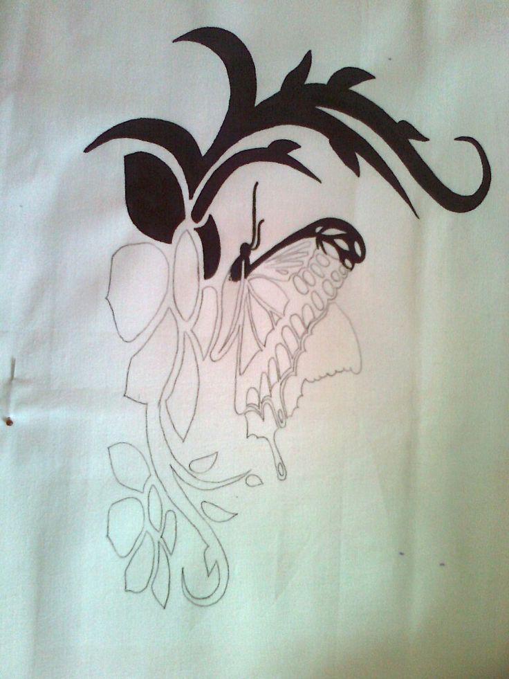 Potah na polštář- malovaný