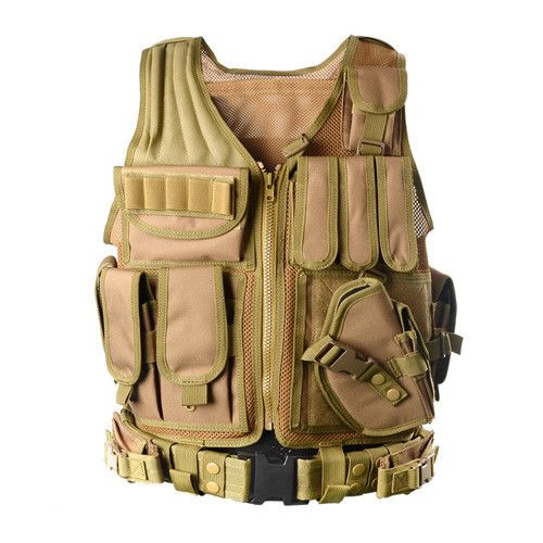 2016 Police Military Tactical Vest Wargame Body Armor Sports Wear Hunting Vest CS Outdoor Products Equipment with 5 Colors