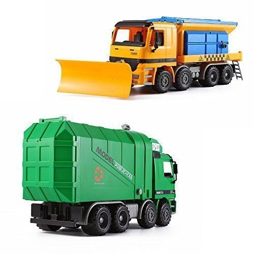 """KING Play Vehicles Series"" Inertia City Service Vehicle Green Side Loading With"