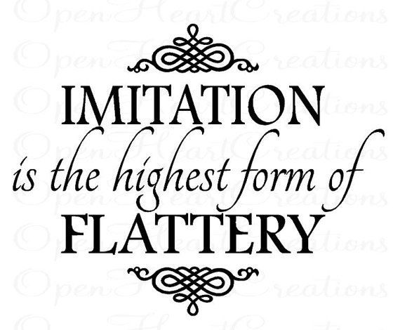 Imitation is the Highest Form of Flattery by openheartcreations