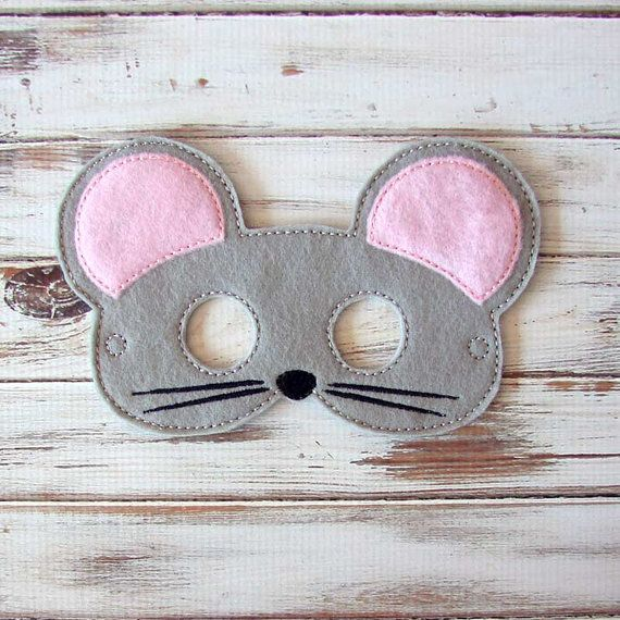Mouse Mask - Felt - Kids Mask - Animal Mask - Dress Up - Halloween - Pretend Play