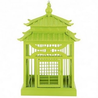 Asian Lime Colored Birdcage~             from Domayne discovered in Ivy and Piper Online Magazine