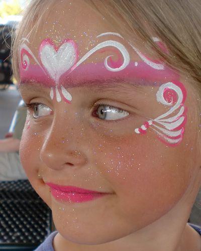 Trucco del viso per Carnevale per bambini da principessa n.7