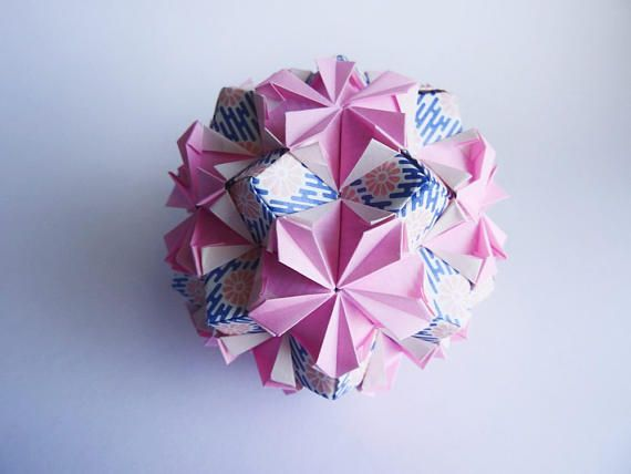Pink flower ball/Origami Kusudama/Unique Gift/Home or office
