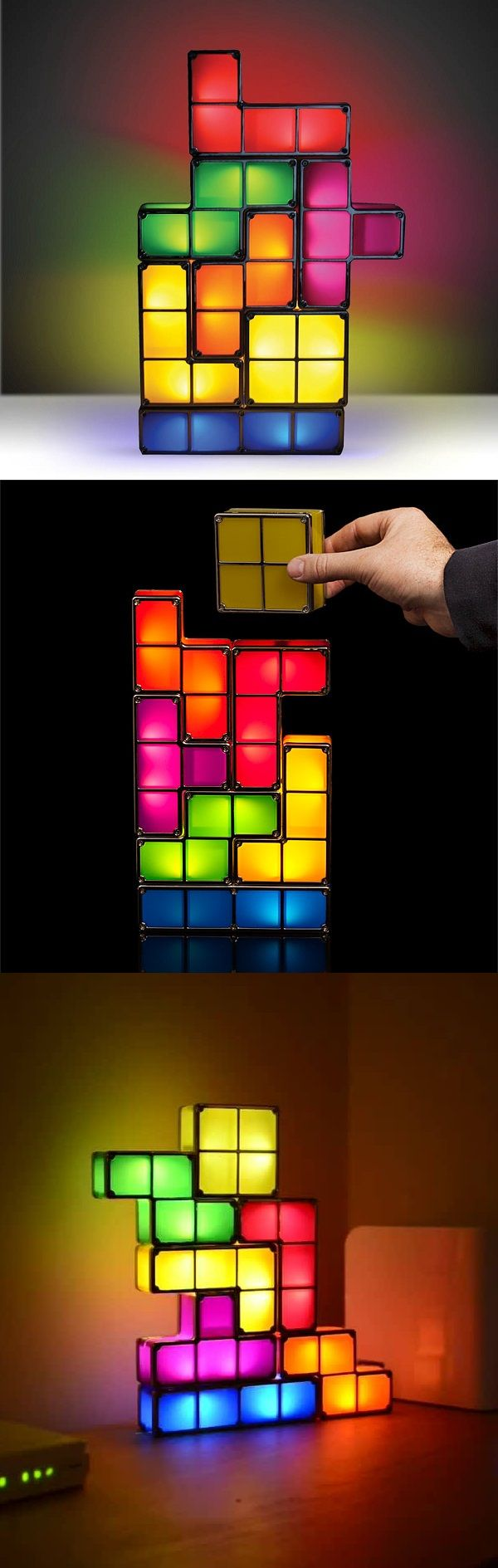 This Tetris-lamp is very interesting, I have no idea how it works but as it would seem there is no way I could develop on this, although it could be the basis for a different concept.